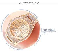 2020 Longbo топ Роскошный горный хрусталь браслет Часы Женщины Алмазный моды дамы розовое золото платье Часы из нержавеющей стали Кристалл наручные часы