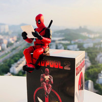 Regalo di Natale Toy PVC Deadpool Marvel Action Figure Seduta Postura Collection Modello Giocattoli Anime X-men 7cm Mini Doll Decoration Toys In Box