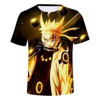Tops Anime t shirt 3D Naruto t dos homens / mulheres Moda Streetwear Hip Hop Harajuku Naruto da Criança