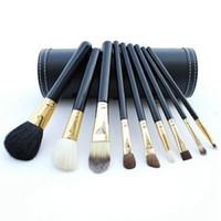 M marka Makyaj fırçalar setleri kozmetik fırça 9 adet kitleri Ahşap saplı makyaj fırça araçları Toz Kontur fırçalar DHL ücretsiz kargo 12
