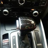 Car Styling console del cambio manico capo della copertura della fibra del carbonio dell'automobile per Audi A4 B8 B9 A5 A6 A7 Q7 Q5 Accessori Interni