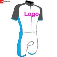 Cfdiseno 2021 ropa deportiva al aire libre ropa de ciclismo personalizados conjuntos de piel con mangas cortas de la piel Skinsuit de la bicicleta Ciclismo