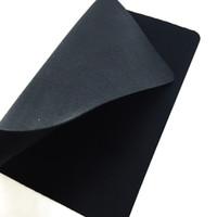 Mouse pad jogo liso preto liso estendido resistente à água antiderrapante natural felino pano jogo mousepad mesa de mesa