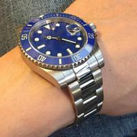 Классические Мужские Часы 116610 Мужские Часы Автоматический Сапфир Из Нержавеющей Скользящей Блокировки Твердый Застежка Керамика Безель Мужские Часы X01