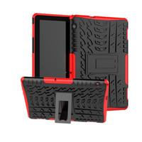 Coque hybride en silicone avec kickstand pour Huawei MediaPad T5 10.1 MediaPad M5 Lite 10 Tablette Couverture arrière de protection
