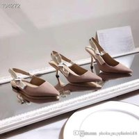 2019 High End Frauen Stiletto Heels, High Heels Sling Pumps in Nude Technische Gewebe mit Bandgröße 34-40