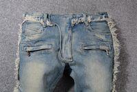 Yeni Geliş Kış Erkek Jeans Klasik Düz Biker Skinny jean ABD boyutu 29-40 Pantolon Ünlü Marka Fermuar Manşetleri Pantolon Sıcak Satış