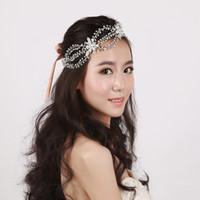 2019 nuevos tocados de novia coreanos accesorios de vestido de boda Hairband Headwear hecho a mano taladro de agua pelo aro accesorios