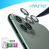 3D la cubierta completa de la pantalla protector de la cámara para el iPhone 11 anillo de la lente protectora cajas traseras para iPhone Pro 11 xmaster Max Glass Film