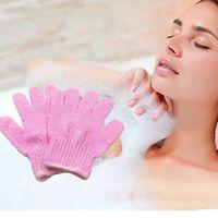 Köpük Banyo Vücut Temizleme Eldiven Banyo Aracı Çok Renkler Banyo Eldiven Peeling Yıkama Cilt Spa Masaj Vücut Temizleyici Duş Eldiven DH0702