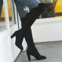 Stivali sopra il ginocchio invernali da donna stivali con cerniera laterali di design con cerniera laterale di moda Dropshipping e all'ingrosso