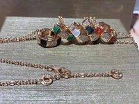 Collar de plata cerámica de plata Ronda Serpenti Cristal para mujeres Snake Colgante S925 y Joyería de Lujo GGXGC