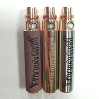 Brass Knuckles 650mAh Akku vorheizen Vape Pen Batterie Holz goldstainless Stahl Einstellbare Spannungs-510 Gewinde für Thick Öl Cartridge