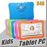 """848 DHL Kids Brand Tablet PC 7 """"Quad Core Enfants Tablet Android 4.4 Allwinner A33 Google Player Wifi Big Haut-parleur Couvercle de protection L-7PB"""