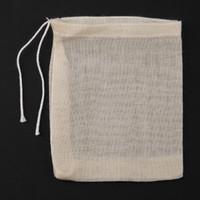 Material de algodón 20pcs / Lot Bolsas de té vacía con una cuerda Teaware de filtro para la hierba de té flojo sopa de condimento en la cocina herramientas bolsitas de té de la cocina