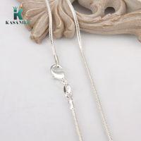 2 milímetros 925 corrente de serpente Colar 16/18/20/22/24 polegadas de prata lagosta fecho colar para as mulheres jóias pendente com cadeia