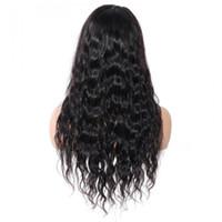 Satılık tam dantel Remy saç için çevrimiçi kadınlar için Perulu uzun su dalgası insan saçı dantel ön