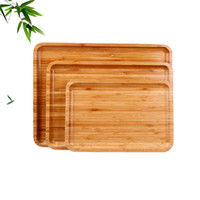 Food Fruit Storage Plate Bamboo Tea Cutlery Rectangular Tray...