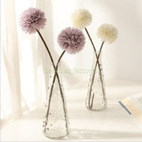 Bola de crisantemo artificial Ramo de flores Restaurante Oficina en el hogar Decoración de mesa Flores falsas 5 colores Longitud total 32 cm