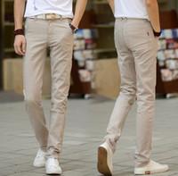 Pantaloni Casual Lino Cotone Moda jogging Uomini uomo Uomo Primavera Autunno pantaloni sottili pantaloni Abbigliamento pantalon homme