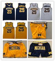 Juwan Howard NCAA 2020 Michigan Wolverines Basket Blay Jersey College Netw Basket Basket Hip Hop Motion Wind Spotrs Pantaloni casual pantaloncini