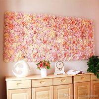 Telón de fondo del banquete de boda del panel de pared nueva 40x60cm artificial de flores de seda de las flores blancas del boda del Hydrangea Decoración Decoración