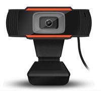 HD 웹캠 480P USB 카메라 컴퓨터 + 소매 상자를위한 마이크가있는 회전식 비디오 녹화 웹