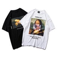 T-shirt da uomo estate estate hip hop t shirt streetwear uomo divertente mina lisa t-shirt cotone moda harajuku tshirt manica corta Top Tees hipster