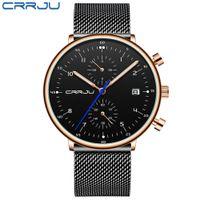 Herren Watch Crrju Luxus Männer Edelstahl Armbanduhr Herren Militär Full Steel Datum Quarz Uhren Relogio Masculino Erkek Saatler