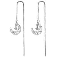 EH374 Regalo de Navidad Kendra Style Sophee Alloy Heart Frame Pendientes ovalados Pendientes colgantes de moda para mujeres Luna