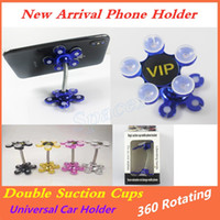 Newest Phone Stands Cellphone Double Suction Cups Support Br...