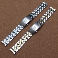 Haute qualité 19mm 20 mm PRC200 T17 T461 T014430 T014410 Watchband parties de montres bande mâle solides bracelets en acier inoxydable sangles
