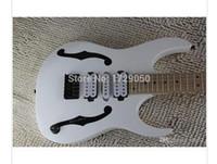China guitarra personalizada de fábrica New Arrival 2019High Qualidade PGM 30 cor branca hardware guitarra elétrica preta