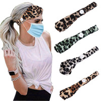 Sport Headband Yoga Headbands with Button Elastic Leopard Printed Headbands Headwrap Gym Hair Bands for Sports Exercise Party Favor RRA3274