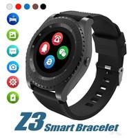 Yeni Z3 Bluetooth Smartwatch Bileklik Android Akıllı Izle Kamera Ile Perakende Için Perakende Ile TF SIM Kart Yuvası Android