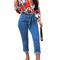 JAYCOSIN High Waist long Straight jeans Women Plus Size High...