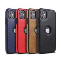 Business Ledertasche Weiche TPU Vollschutzfälle für iPhone 12 Mini 11 PRO MAX X XR XS MAX 8 7 6S PLUS