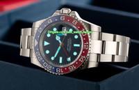 BP 메이커 최고 품질의 시계 40mm GMT 116719 116719BLRO 펩시 사파이어 세라믹 베젤 아시아 2813 ETA 2836 무브먼트 자동 망 시계 남자 손목 시계