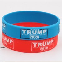Trump 2020 Pulseira Silicone tornar a América Great Again Carta Silicone Pulseira Donald Trump Supporters pulseira pulseiras presente ZZA1965