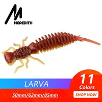 MEREDITH Larva Soft Lures 10pcs lot 50mm 0. 9g Artificial Lur...