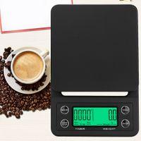0.1g 3kg / 5kg Drip Coffee Scala di timer elettronico Bilancia da cucina digitale Bilance LCD Balance