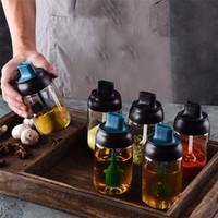 المطبخ التوابل زجاجة مختومة زجاجة فرشاة النفط غطاء ملعقة بهار دمج وعاء زجاجة العسل T9I00342