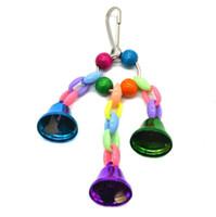 Yeni Ev Renkli Boncuk Bells Parrot Oyuncak Süspansiyon Asma Köprüsü Zinciri Pet Kuş Papağan Chew Salıncak Oyuncak Kuş Kafesi Ev Dekorasyon Araçları