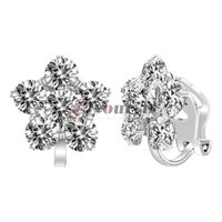 Yoursfs Clip On Bridal Earrings White Crystal Bride Earrings Wedding Jewelry Cubic Zirconia Wedding Earrings Bridesmaid Gift