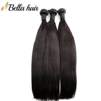 Peruanische Jungfrau-Haar-Bündel-Human-Haar-Erweiterungen unverarbeitete brasilianische Gewebe seidiges gerades Haar-indischer malaysischer 3pcs / lot bellahair