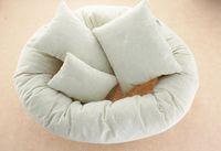 Forma 4pcs recém-nascido Fotografia Props Ciclo em volta do anel Pillow foto do bebê Prop Fundo Basket Stuffer atrezzo fotos