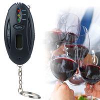 3 inç alkol analizörü mini fener led anahtarlık alkolimetro Breathalyzer Otopark Gadgets LCD Saat Timer ile Dijital Alkol Test Cihazı