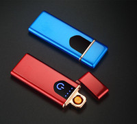 USB سخانات قابلة للشحن يندبروف عديمة اللهب الإلكترونية أخف رقيقة جدا السجائر lightr اللمس التعريفي