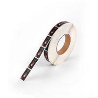 Customized Rectangle selbstklebender Dichtungs-Aufkleber auf Verpackung aufgedruckten Farben Rollenetiketten Aufkleber mit hohen Qualität