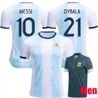 Atacado Novo Argentina World Copa Jersey 19/20 Messi Home Di Maria Aguero Qualidade Tailandesa Argentina Camisas de Futebol 2019